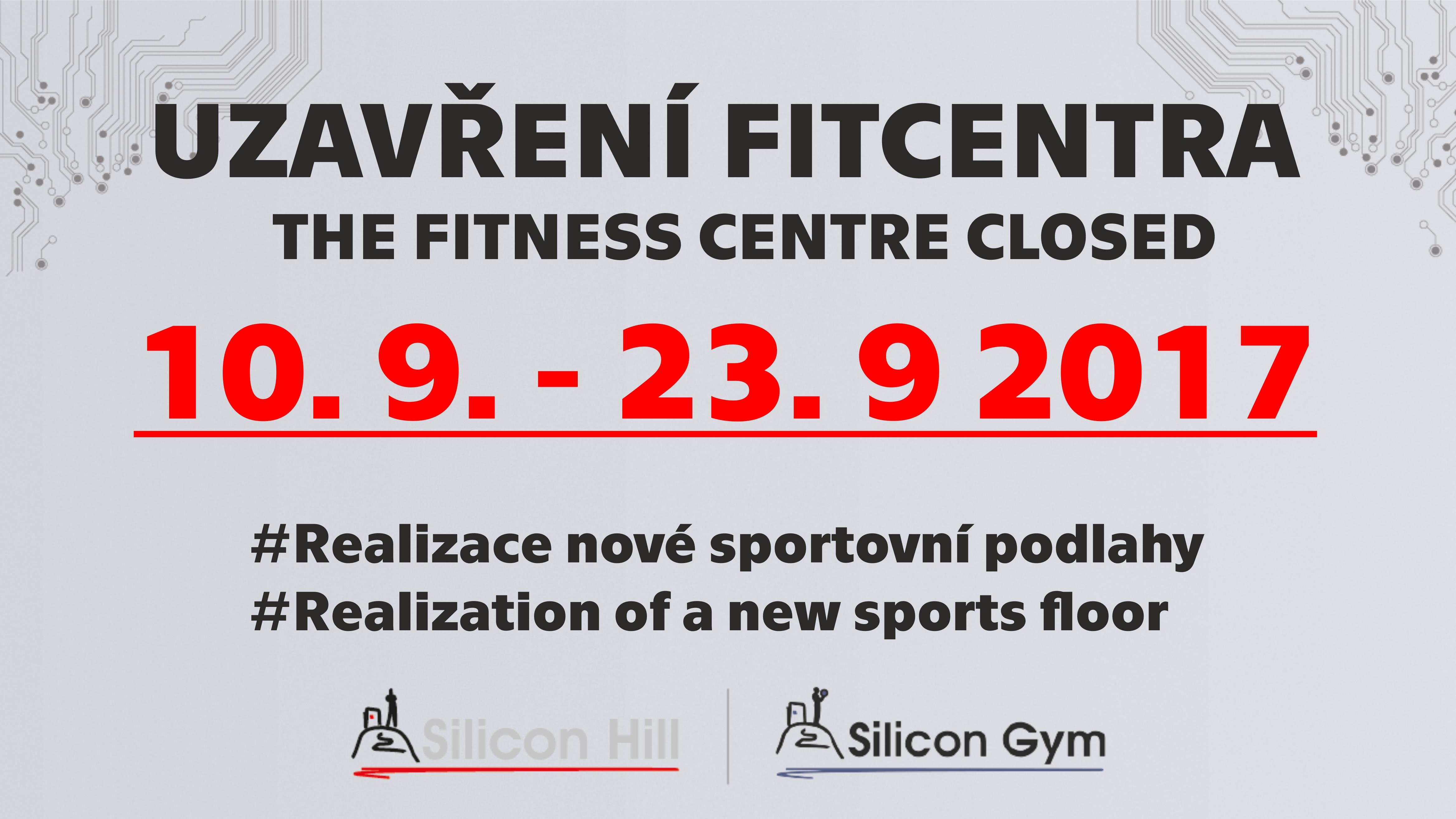 Uzavření fitcentra